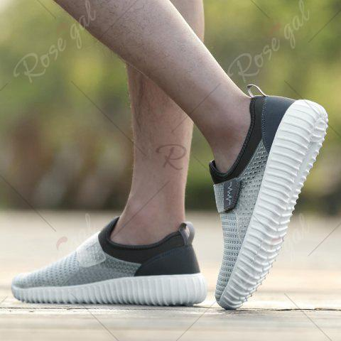 Chic Breathable Figure Pattern Casual Shoes - 43 LIGHT GRAY Mobile
