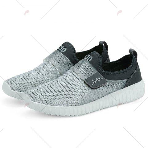 Affordable Breathable Figure Pattern Casual Shoes - 43 LIGHT GRAY Mobile