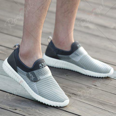 Shops Breathable Figure Pattern Casual Shoes - 43 LIGHT GRAY Mobile