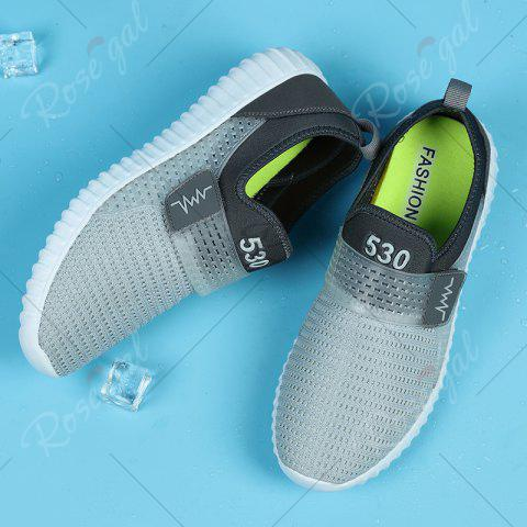 Latest Breathable Figure Pattern Casual Shoes - 43 LIGHT GRAY Mobile