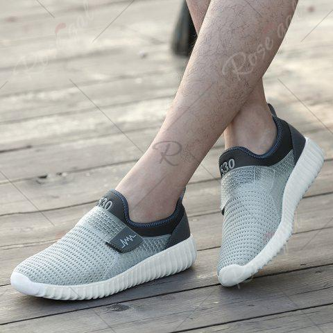 Sale Breathable Figure Pattern Casual Shoes - 43 LIGHT GRAY Mobile