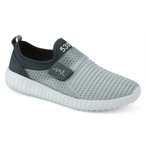 Trendy Breathable Figure Pattern Casual Shoes - 43 LIGHT GRAY Mobile