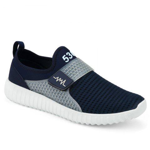 Discount Breathable Figure Pattern Casual Shoes - 43 DEEP BLUE Mobile