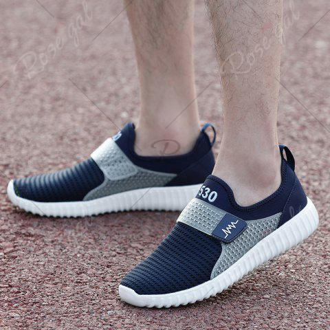 Affordable Breathable Figure Pattern Casual Shoes - 43 DEEP BLUE Mobile