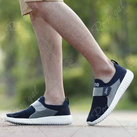 New Breathable Figure Pattern Casual Shoes - 43 DEEP BLUE Mobile