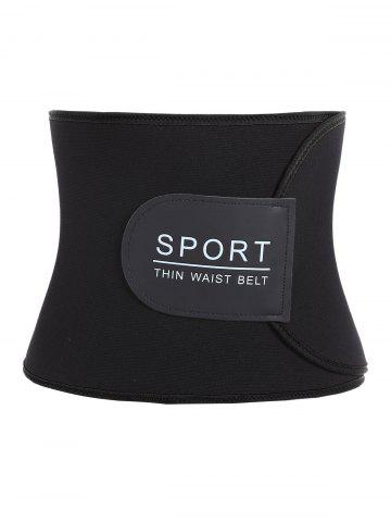 Buy Sports Adjustable Waist Trainer Fitness Belt - ONE SIZE BLACK Mobile