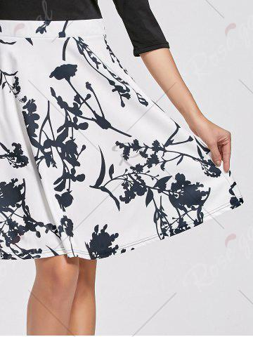 Outfit High Waist Printed Dress - XL WHITE Mobile