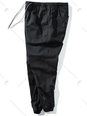 Outfit Taper Fit Drawstring Waist Jogger Pants - 5XL BLACK Mobile