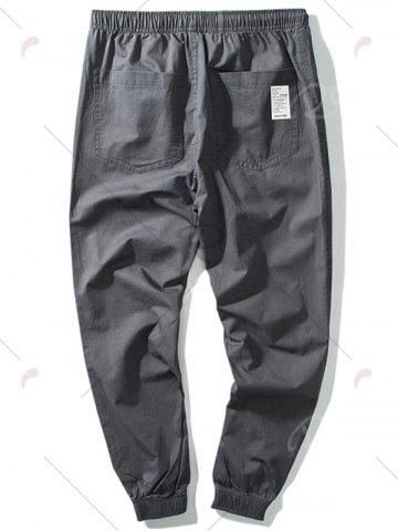 Discount Taper Fit Drawstring Waist Jogger Pants - 5XL GRAY Mobile