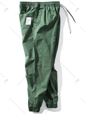 Affordable Taper Fit Drawstring Waist Jogger Pants - 5XL GREEN Mobile