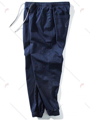 Latest Taper Fit Drawstring Waist Jogger Pants - 5XL DEEP BLUE Mobile