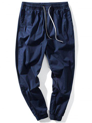 Chic Taper Fit Drawstring Waist Jogger Pants - 5XL DEEP BLUE Mobile