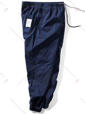 Affordable Taper Fit Drawstring Waist Jogger Pants - 5XL DEEP BLUE Mobile