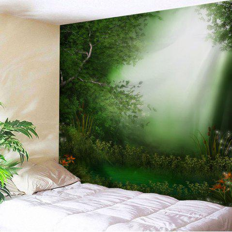 Latest Dreamlike Forest Print Fabric Throw Wall Tapestry