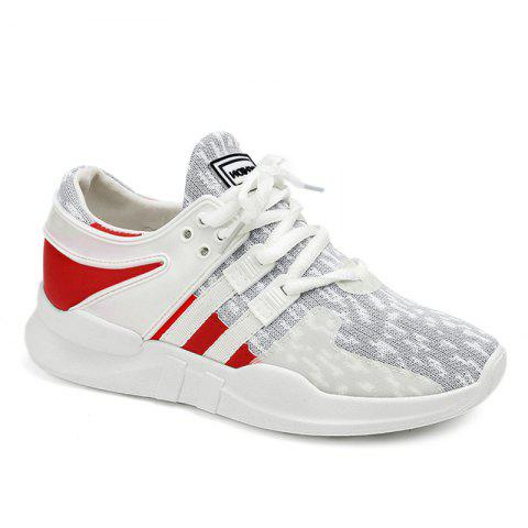 Discount Breathable Colour Block Athletic Shoes - 38 LIGHT GRAY Mobile