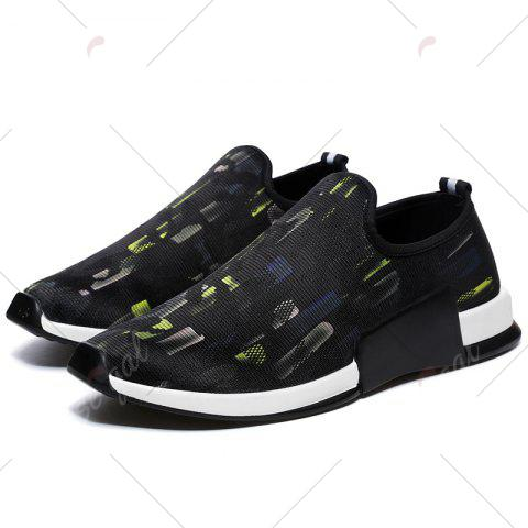 Chic Color Block Mesh Slip On Athletic Shoes - 40 YELLOW Mobile