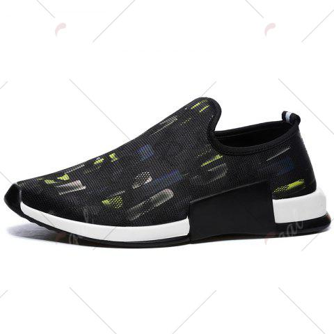 Outfit Color Block Mesh Slip On Athletic Shoes - 40 YELLOW Mobile