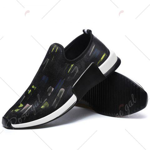 Outfits Color Block Mesh Slip On Athletic Shoes - 40 YELLOW Mobile