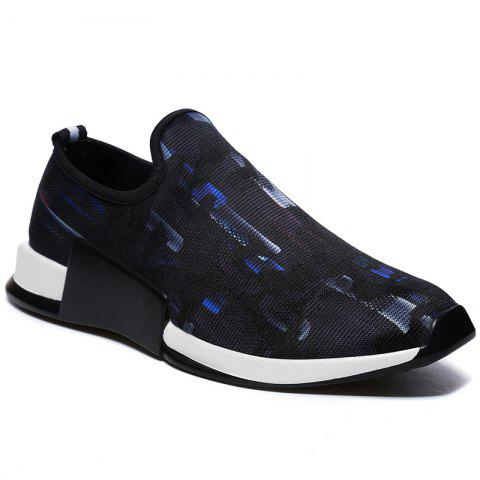 Discount Color Block Mesh Slip On Athletic Shoes - 43 BLUE Mobile