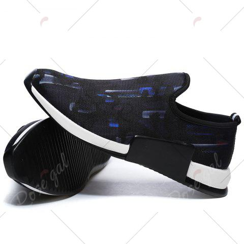 Outfit Color Block Mesh Slip On Athletic Shoes - 43 BLUE Mobile