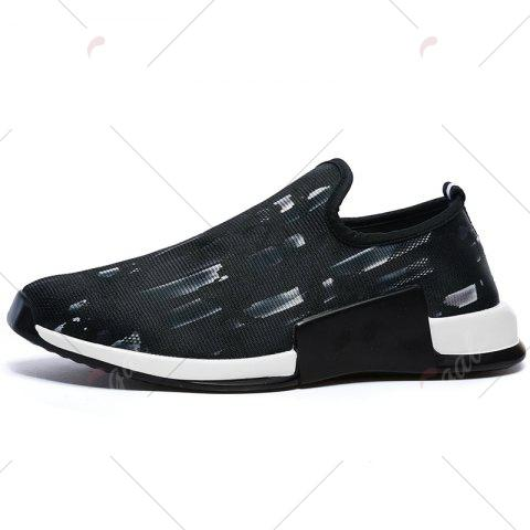 Discount Color Block Mesh Slip On Athletic Shoes - 43 WHITE Mobile