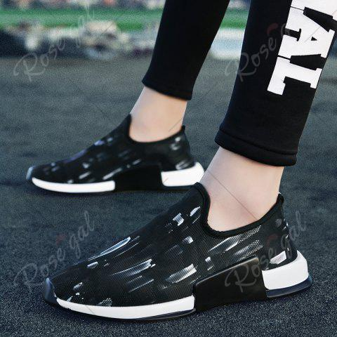Chic Color Block Mesh Slip On Athletic Shoes - 43 WHITE Mobile
