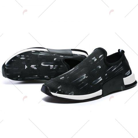 Hot Color Block Mesh Slip On Athletic Shoes - 43 WHITE Mobile