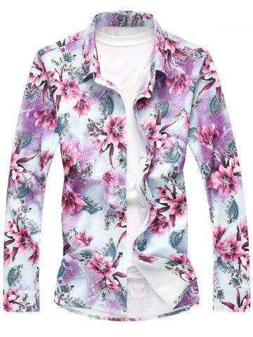 Outfits Long Sleeve Plus Size Floral Shirt