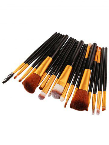 Unique 18Pcs Face Eye Multipurpose Makeup Brushes Kit - BLACK AND GOLDEN  Mobile