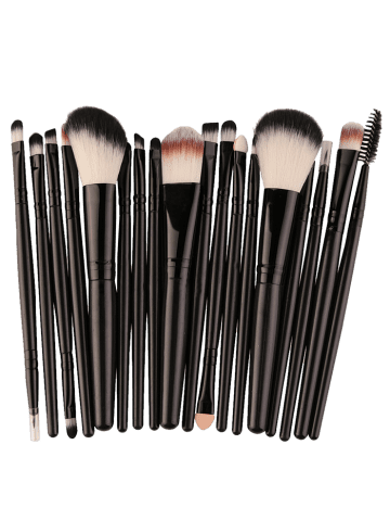 Fashion 18Pcs Face Eye Multipurpose Makeup Brushes Kit - BLACK  Mobile