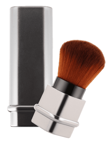Trendy Square Telescopic Tube Blush Brush - SILVER  Mobile