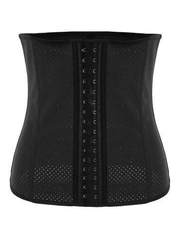 Outfit Plus Size Waist Trainer Latex Rubber Corset - 4XL BLACK Mobile
