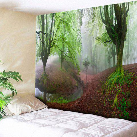 Trendy Forest Print Wall Hanging Decorated Tapestry
