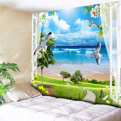 Sale Beach Scenery Printed Wall Hanging Tapestry