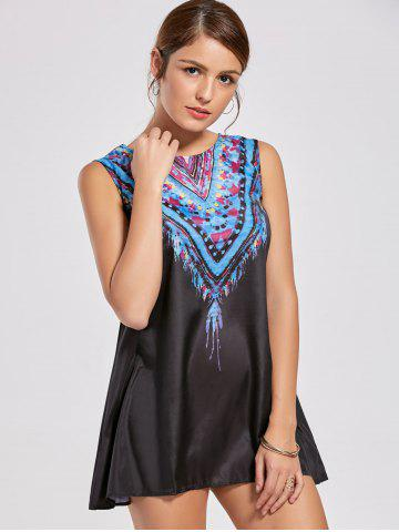 Ethnic Style Scoop Neck Sleeveless Printed Women's Dress