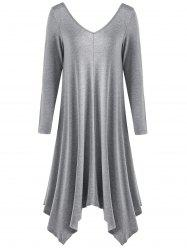 Asymmetrical Midi T-shirt Dress
