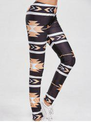 Patterned Leggings - BLACK