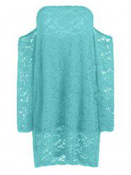 Off The Shoulder Long Sleeve Lace Dress
