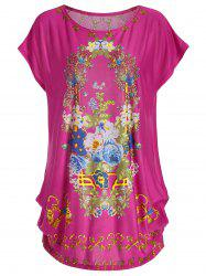 Floral Print Casual Tunic T-shirt