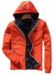 Convertible Wear Zip Up Hooded Jacket - ORANGE