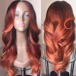 Long Middle Parting Colormix Wavy Synthetic Wig - COLORMIX