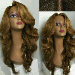 Long Side Part Loose Wave Synthetic Wig - COLORMIX