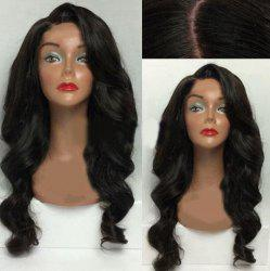 Long Side Part Body Wave Synthetic Wig - BLACK