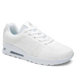 Breathable Air Cushion Athletic Shoes - WHITE