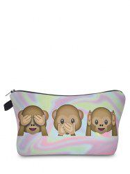 Emoji Print Clutch Makeup Bag -