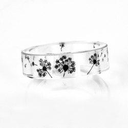 Dandelion Resin Transparent Ring