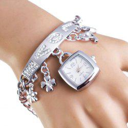 Rhinestone Love Charm ID Bracelet Number Watch