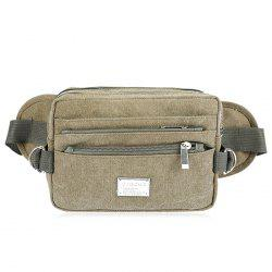 Canvas Multi Zips Waist Bag