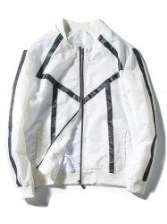 Two Tone Zip Up Jacket