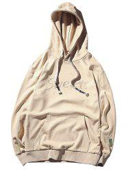 Kangaroo Pocket Sweet Fruit Embroidery Hoodie